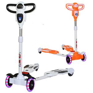 儿童滑板车宝宝滑行车2-7岁四轮闪光