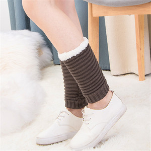 脚脖套加绒保暖护脚踝<span class=H>袜套</span>针织短冬季女加厚毛线护脚腕套靴套腿套
