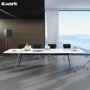 ework簡易<span class=H>會議桌</span> 培訓<span class=H>長桌</span>辦公家具 簡約現代職員辦公拼接洽談桌