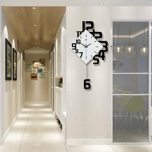 北欧创意钟表挂钟客厅家用时尚艺术静音时钟装饰石英钟现代大气