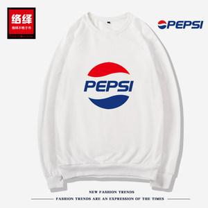 Pepsi百事可乐卫衣男女情侣春秋装宽松运动大码休闲国潮港风衣服