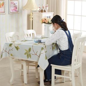 防水<span class=H>居家</span><span class=H>布艺</span> 北欧田园家用饭店酒店茶几长方形餐桌台布桌布