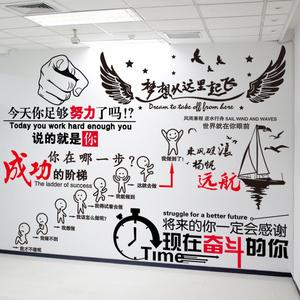 励志墙贴纸贴画公司企业<span class=H>文化</span>墙纸壁纸自粘装饰客厅标语宿舍<span class=H>办公</span>室