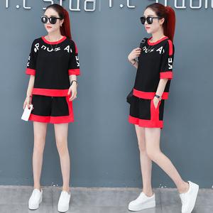 网红两件套装俏皮2019新款夏装女时尚韩版洋气很仙的气质御姐套装