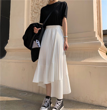 La La Hanfeng irregular pleated lotus hem skirt