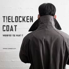 Madden tooling American retro trench trench windbreaker Amika military windbreaker mid-long tooling jacket man