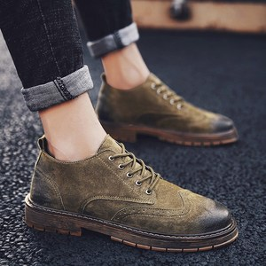 <span class=H>鞋子</span>男潮鞋韩版男士休闲鞋靴布洛克皮鞋男英伦复古马丁鞋<span class=H>男鞋</span>冬季