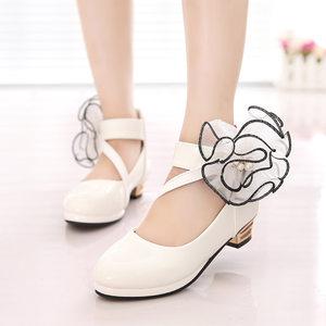 12白黑<span class=H>皮鞋</span>11女孩女童9真皮8春儿童4单鞋5高跟舞蹈鞋3-6岁10演出7
