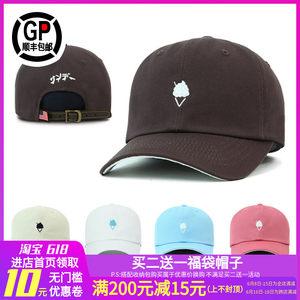 韩国正品Flipper冰淇淋棒球帽女生小码潮牌纯色鸭舌帽男情侣<span class=H>帽子</span>