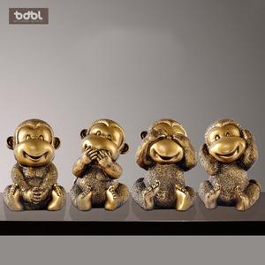 猴摆件四不猴家居客厅装饰品猴摆设生肖猴子工艺品摆件创意艺术品
