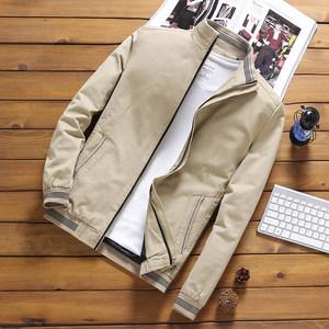 男士纯棉布外套秋冬装春季薄款加绒加厚保暖<span class=H>风衣</span>夹克青年潮流男装