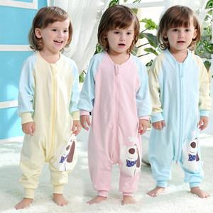 护肚小朋友睡衣大号连体婴儿童女宝宝冬天男童睡袍分腿连体衣薄款