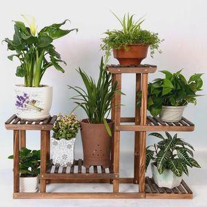 植物花卉做旧经济型木质工艺提供简单安装工具组装松木田园<span class=H>花架</span>