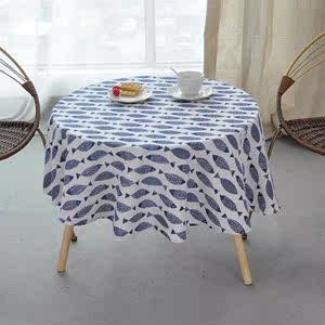 钜惠来袭欧式高档圆桌桌布圆形台布家用地中海田园风格<span class=H>餐桌</span>布布