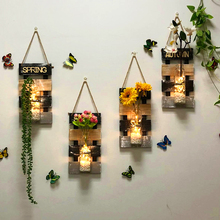 Bedroom wall decoration pendant creative restaurant room living room wall wall hydroponic vase home wall hanging ornaments
