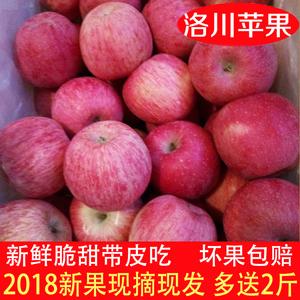 2018陕西洛川红富士<span class=H>苹果</span>水果新鲜当季脆甜冰糖心80孕妇吃10斤包邮