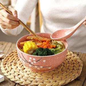 日式餐具套装釉下彩<span class=H>陶瓷</span>碗创意7英寸家用面碗大饭碗<span class=H>泡面碗</span>沙拉碗