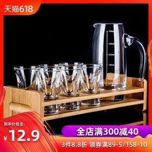 HYU白<span class=H>酒杯</span>套装 家用水晶玻璃子弹杯12只小一口杯烈<span class=H>酒杯</span><span class=H>酒具</span>分酒器