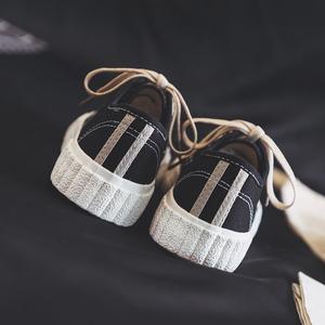 复古棉鞋子女冬2018新款百搭韩版<span class=H>帆布鞋</span>超火智熏鞋秋季学生板鞋