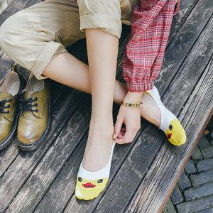 袜子女船袜夏季韩版浅口低帮硅胶防滑隐形可爱短袜秋冬棉袜非纯棉