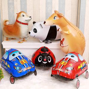 走路宠物汽车<span class=H>铝膜</span><span class=H>气球</span>儿童生日派对玩具<span class=H>气球</span>宝宝周岁装扮布置用品