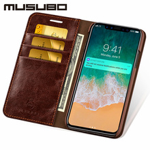 Musubo Luxury Leather Flip Case For iPhone XS MAX XR X Cover