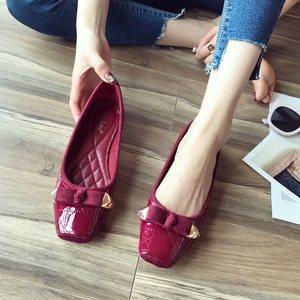 潮流<span class=H>女鞋</span>子2018夏季新款韩版皮鞋甜美低跟方头单鞋百搭浅口平底鞋