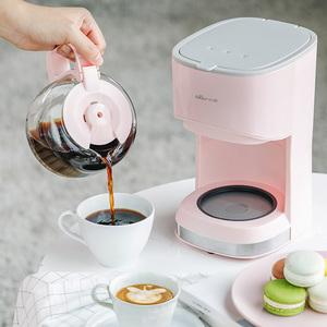 小熊美式全自动煮<span class=H>咖啡机</span>家用滴漏式小型迷你咖啡壶泡茶煮茶壶两用