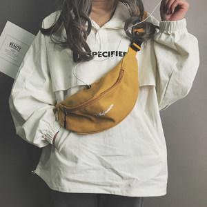 小<span class=H>包包</span>女2018新款潮韩版个性帆布胸包ins时尚休闲简约斜挎包腰包