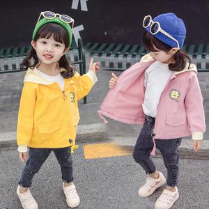 一岁女宝宝春秋款连帽外套0-2-3岁小童卡通韩版<span class=H>风衣</span>网红夹克衫9棉