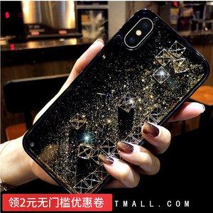 韩风液态流沙奢华苹果X<span class=H>手机壳</span>iphone7防摔套Xsmax网红8plus方格XR