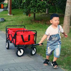 四轮宠物儿童超市钓鱼折叠便携户外搬运货小手推拉杆拖野营<span class=H>购物车</span>