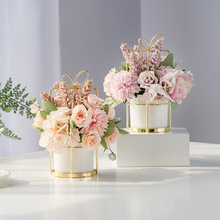 Scandinavian Home Dry Flowers and Fake Flowers Simulated Flower Hall Decorations Arrangement of Flower Bouquet, Tea Table, Table and Flower Arrangement