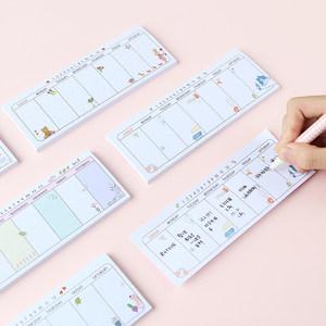 韩国创意记事可撕便利贴备忘录N次贴<span class=H>便签</span>纸日程7天周计划本小本子