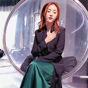 【DH-major段大牌推荐】新款丝质<span class=H>长裙</span>女套装名媛西装外套三件套装