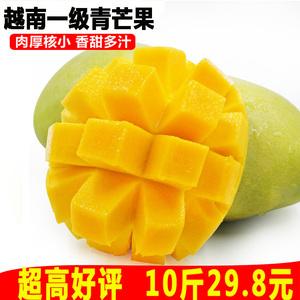 越南青玉<span class=H>芒果</span>整箱10斤 当季水果批发包邮新鲜大青皮甜心<span class=H>芒果</span>新鲜