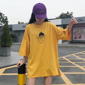 短袖t恤女2019春夏韩版bf学生ulzzang原宿风裙子ins网红上衣服潮