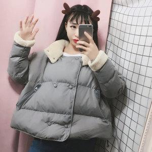 面包服女学生韩版短款宽松bf原宿风棉袄冬季2018新款加厚棉服外套