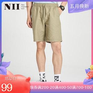 NII休闲短裤学生男士直筒五分裤韩版潮流中裤运动裤男宽松短裤夏