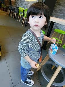 女童小童小衫春秋衣女宝体t恤外穿女宝宝3岁长袖打底洋气百搭韩版