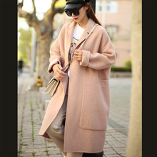 Anti-season Special ~Loose Korean Version 2019 Full Wool Profile Double-sided Wool Overcoat D88121