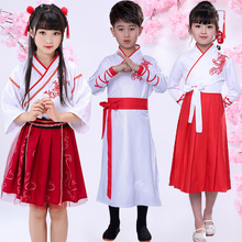 Girls'Chinese Dresses Summer Dresses Children's Ancient Dresses Three-character Performing Dresses Chinese Style Boys' Book Children's Traditional Chinese Dresses