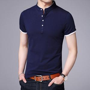 夏季男士纯棉短袖T恤休闲纯色