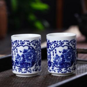 手捧杯小<span class=H>茶杯</span>茶具套装陶瓷家用中式<span class=H>复古</span>品茗杯<span class=H>青花瓷</span>主人杯个人杯