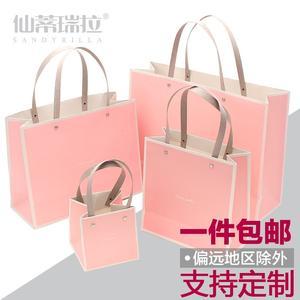 纯色简约礼品袋礼物盒纸袋子手提袋生日节日情人送礼礼袋