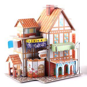 diy玩具<span class=H>模型</span>恐龙房子硬纸板<span class=H>农场</span>拼接儿童智力军舰构建<span class=H>建筑</span>女孩子