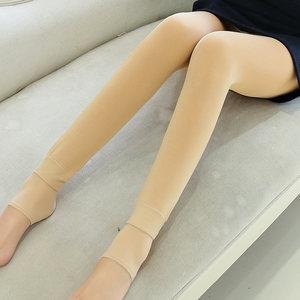 加长纯棉外穿<span class=H>打底裤</span>女春秋薄款高弹力紧身超长170高个子小脚秋裤