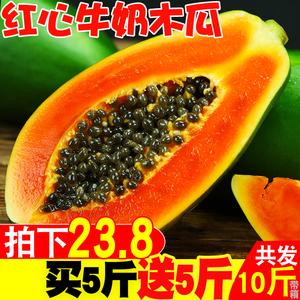 海南红心<span class=H>木瓜</span>新鲜应当季水果带箱10斤牛奶冰糖青<span class=H>木瓜</span>包邮非广西