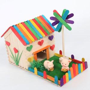小屋多款模型成品精美房?#37038;?#29992;女童装饰幼儿园玩具手工作?#23548;?#24237;漂