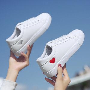 2019新款小白鞋<span class=H>女鞋</span>学生平底百搭帆布鞋韩版白鞋白色1992板鞋春季